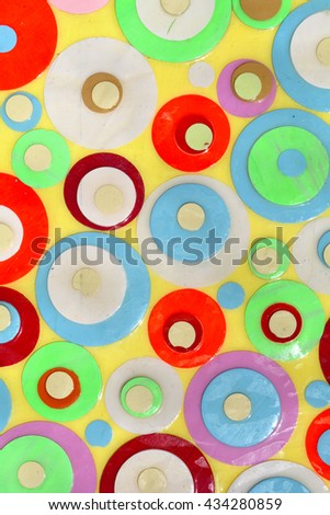 Background of many random color circles.