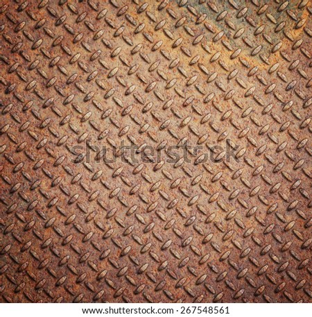Background of metal diamond plate - stock photo