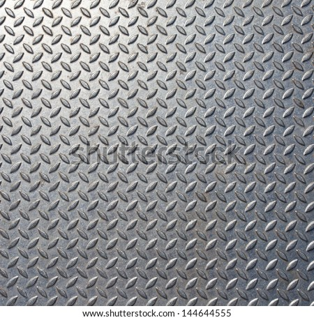 Background of metal  plate in silver color - stock photo