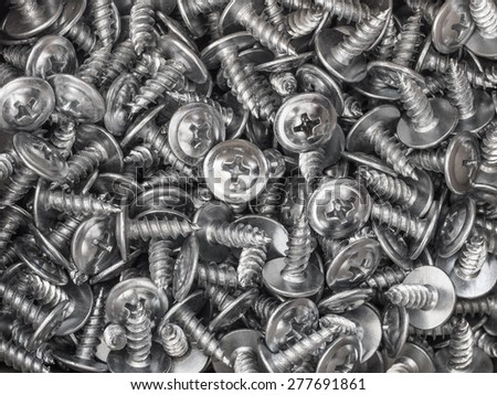 Background of metal screws