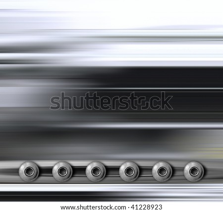 background of military metal plate with rivets - stock photo