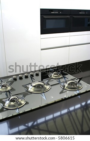 background of modern kitchen - stock photo