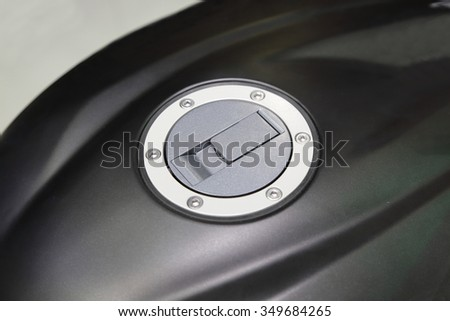 background of motorcycle fuel cap