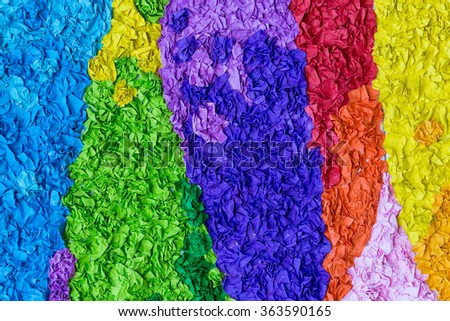 Background of multi-colored paper Color paper stack multiple layers of multiple colors. - stock photo