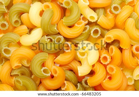 background of multi-colored pasta