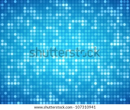 Background of multiples blue dots - stock photo