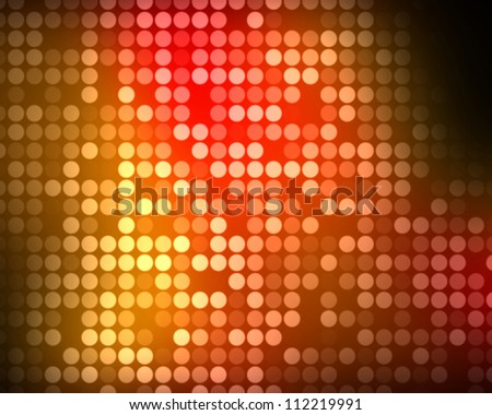 Background of multiples red and orange dots - stock photo