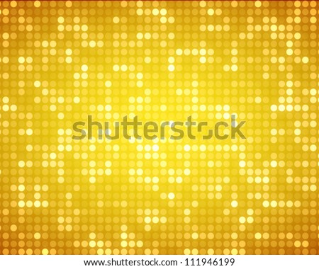 Background of multiples yellow dots - stock photo