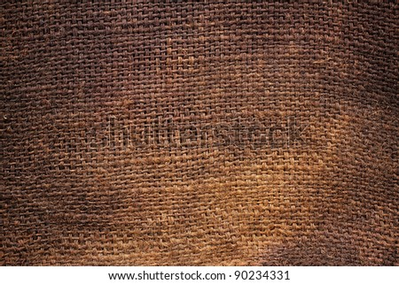 Background of Natural burlap hessian sacking - stock photo