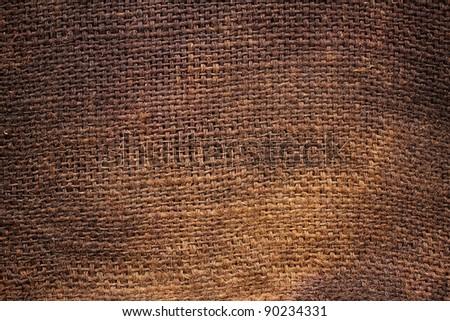 Background of Natural burlap hessian sacking - stock photo