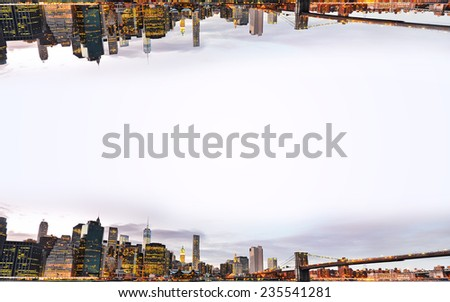 Background of New York skyline. - stock photo