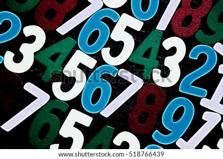 Background of numbers. from zero to nine. Background with numbers.