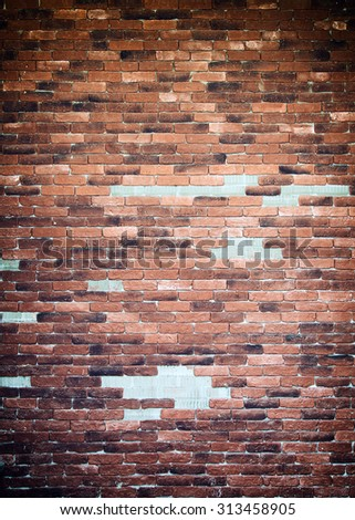 Background of old bricks wall texture