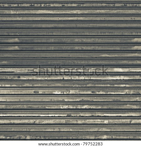 Background of old metal door in grungy style. - stock photo