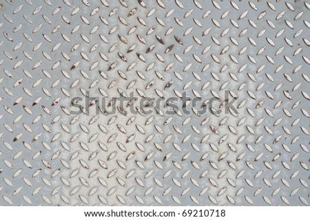 Background of old metal floor - stock photo