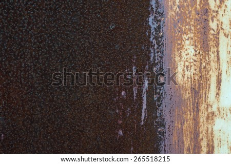 Background of old rusty metal with scratches. Grunge texture. - stock photo