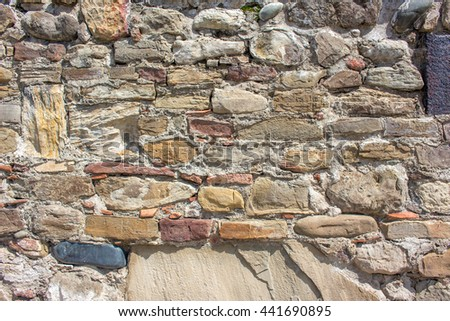 Background of old stone wall texture.
