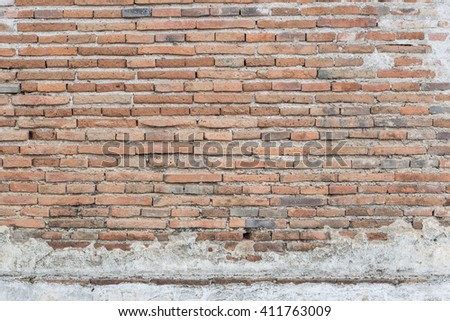 Background of old vintage brick wall - stock photo