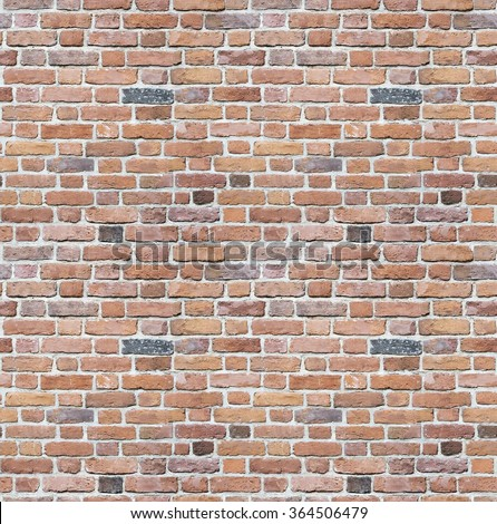 Background of old vintage brick wall / Red brick wall seamless background - texture pattern for continuous replicate. / Red brick wall texture background - stock photo