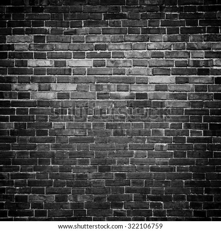 Background of old vintage brick wall, stone wall. - stock photo