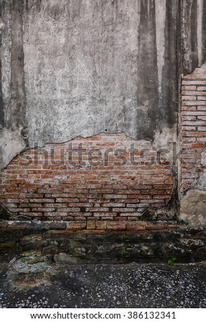 Background of old vintage brick wall, texture