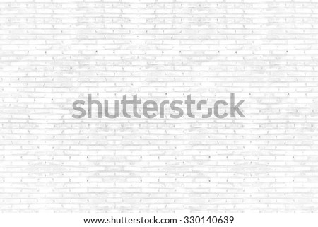 Background of old vintage white brick wall - stock photo