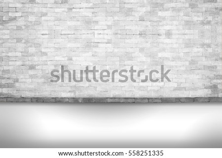 Background of old vintage White brick wall