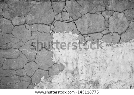 Background of Old weathered concrete wall fragment - stock photo