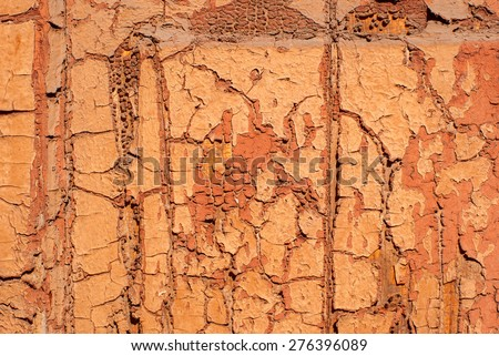 Background of old weathered painted wall - stock photo