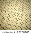 Background of olden sidewalk on the streets - stock photo