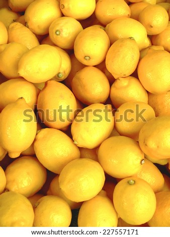background of organic lemons