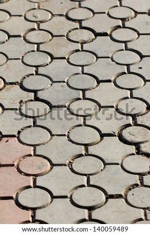 background of paving stone on the road - stock photo