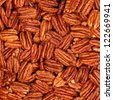 background of pecans - stock photo
