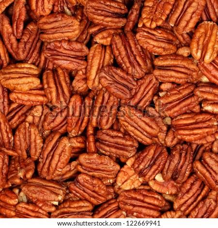 background of pecans - stock photo