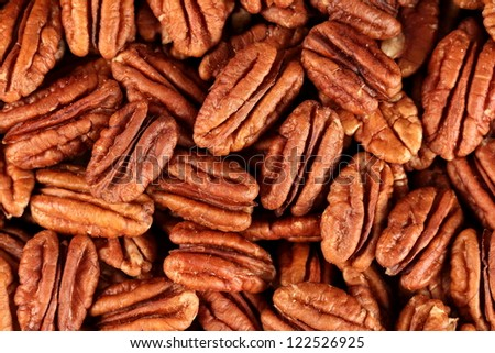 background of pecans, full size - stock photo