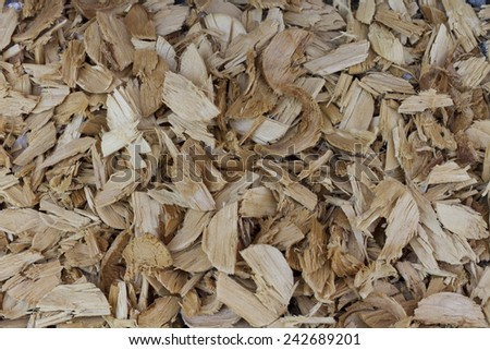 Background of pine wood chips.