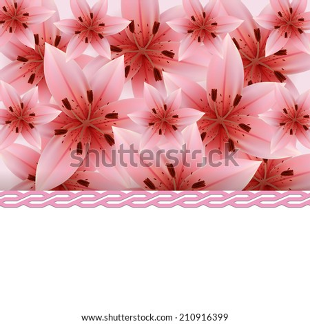 Background of pink lilies