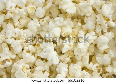 background of popcorn - stock photo