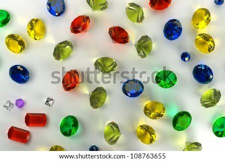background of precious stones - stock photo