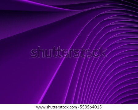 background of purple 3d abstract waves. render