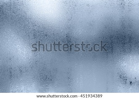 background of rain drops on the glass - stock photo