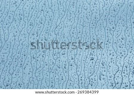background of rain drops on the window - stock photo