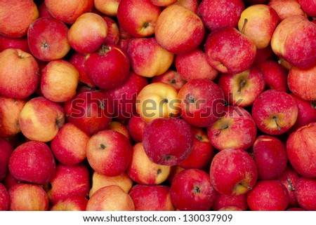 background of red apples
