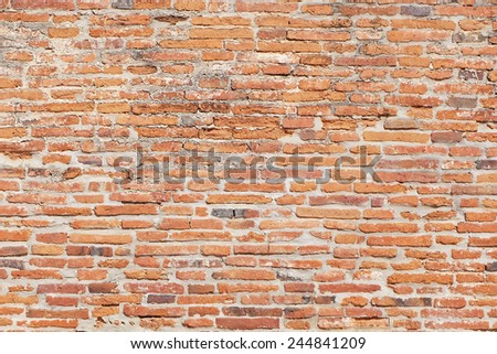 Background of red brick wall pattern texture. Great for graffiti inscriptions.  - stock photo