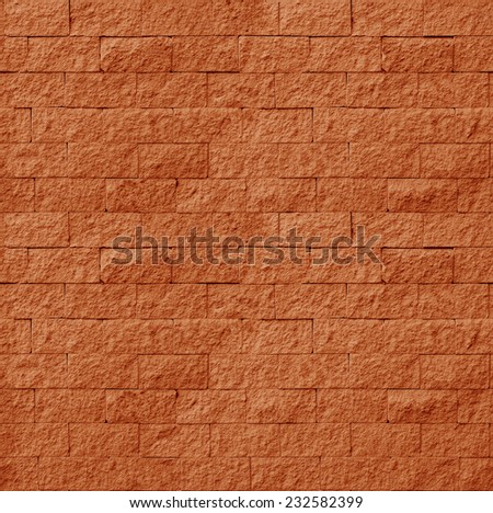 Background of red brick wall seamless close-up texture / room interior vintage with brick wall and wood floor background - stock photo