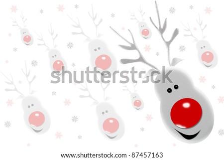 background of reindeer - stock photo