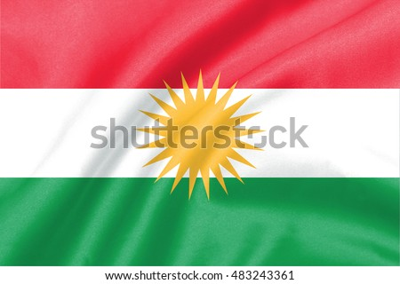 background of ripple kurdistan flag