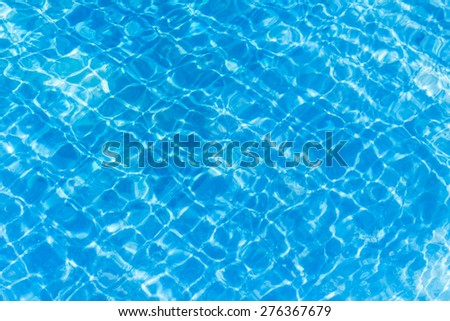 Background of rippled pattern of clean water in a blue.
