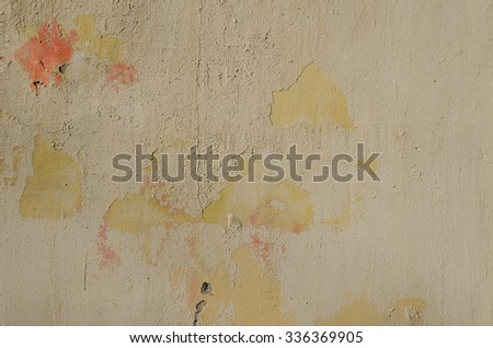background of rough old cement plaster wall - stock photo
