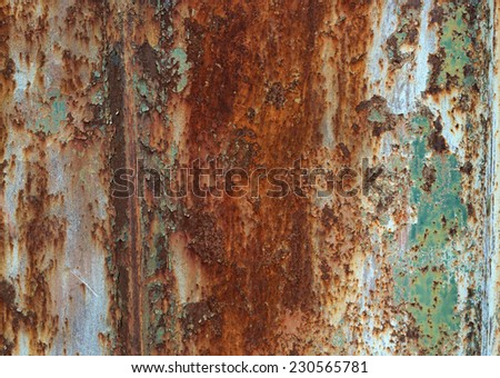 Background of rust on metal wall - stock photo